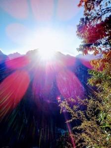 Durante a subida para Machu Picchu